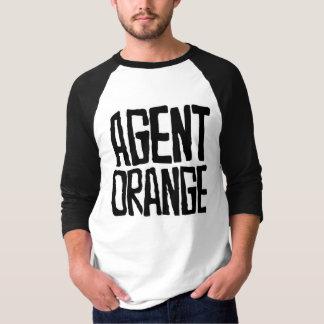"""Agent Orange """"Thrashed"""" Logo Jersey Baseball Punk Shirt"""