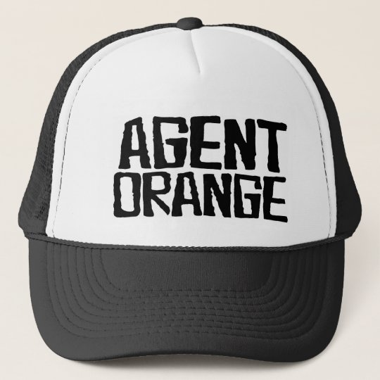 agent orange quotthrashedquot logo punk hat skate zazzlecom