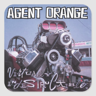 "Agent Orange ""Virtually Indestructible"" Stickers"