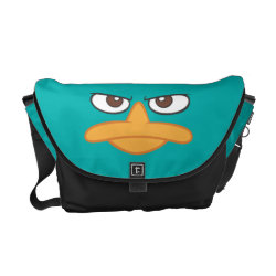 Rickshaw Medium Zero Messenger Bag with Agent P of Phineas and Ferb Face design