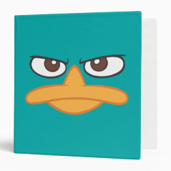 Avery Signature 1' Binder with Agent P of Phineas and Ferb Face design