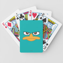 Playing Cards with Agent P of Phineas and Ferb Face design