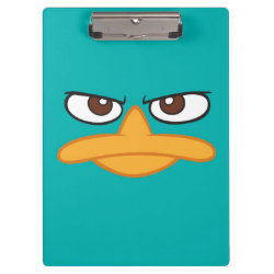 Clipboard with Agent P of Phineas and Ferb Face design
