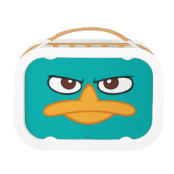 Orange yubo Lunch Box with Agent P of Phineas and Ferb Face design