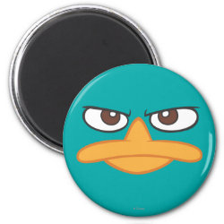 Round Magnet with Agent P of Phineas and Ferb Face design