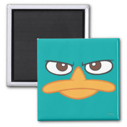 Square Magnet with Agent P of Phineas and Ferb Face design