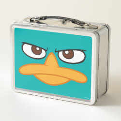 Metal Lunch Box with Agent P of Phineas and Ferb Face design