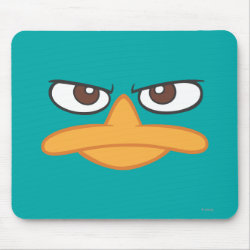 Mousepad with Agent P of Phineas and Ferb Face design