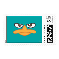 Medium Stamp 2.1' x 1.3' with Agent P of Phineas and Ferb Face design