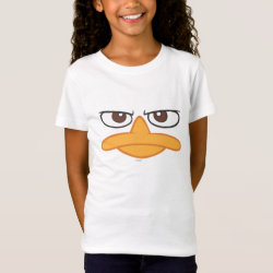 Girls' Fine Jersey T-Shirt with Agent P of Phineas and Ferb Face design