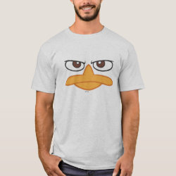 Men's Basic T-Shirt with Agent P of Phineas and Ferb Face design