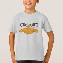 Kids' Hanes TAGLESS® T-Shirt with Agent P of Phineas and Ferb Face design