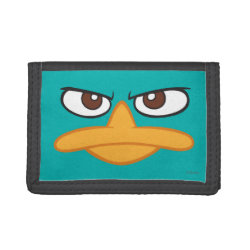 TriFold Nylon Wallet with Agent P of Phineas and Ferb Face design