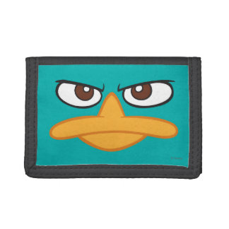 Agent P Face Trifold Wallets