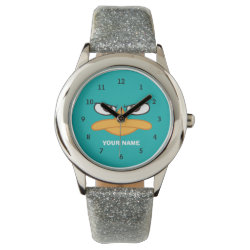 Kid's Silver Glitter Strap Watch with Agent P of Phineas and Ferb Face design