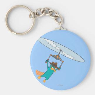Agent P Flying Basic Round Button Keychain