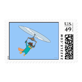 Agent P Flying Postage Stamps