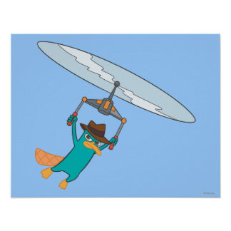 Agent P Flying Poster