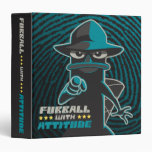 Agent P - Furrball With Attitude 3 Ring Binder
