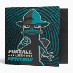 Avery Signature 1' Binder with Agent P - Furball with Attitude by Phineas and Ferb design