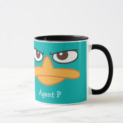 Combo Mug with Agent P of Phineas and Ferb Face design