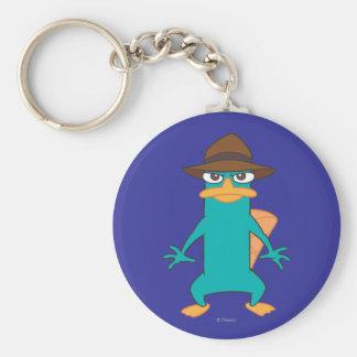 Agent P Pose Basic Round Button Keychain
