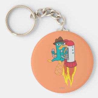 Agent P Rocket Pack Basic Round Button Keychain