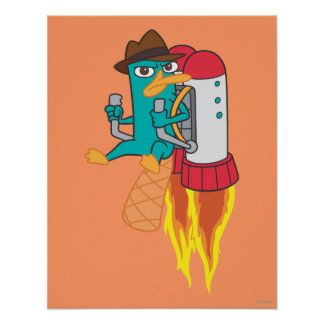 Agent P Rocket Pack Poster
