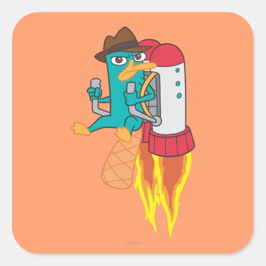 Agent P Rocket Pack Square Sticker