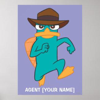 Agent P Running Print