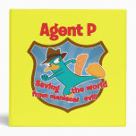 Agent P Saving the world from maniacal evil Badge Binders