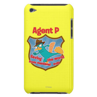 Agent P Saving the world from maniacal evil Badge iPod Touch Cover