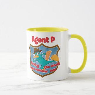 Agent P Saving the world from maniacal evil Badge Mug