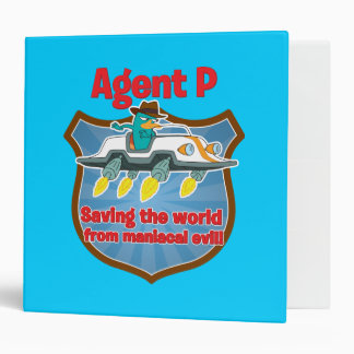 Agent P Saving the world from maniacal evil Car 3 Ring Binder