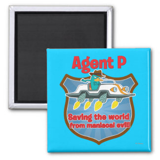 Agent P Saving the world from maniacal evil Car Magnet