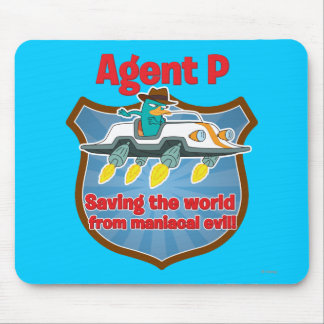 Agent P Saving the world from maniacal evil Car Mouse Pad