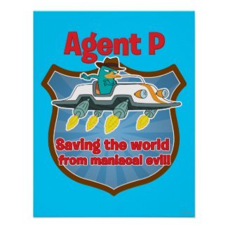 Agent P Saving the world from maniacal evil Car Print