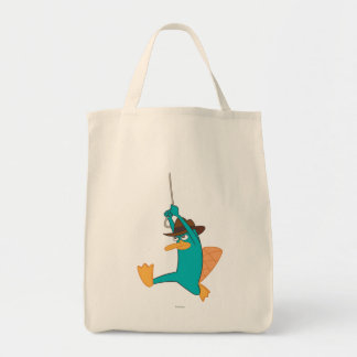 Agent P Swinging from Rope Canvas Bag
