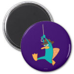 Agent P Swinging from Rope Fridge Magnets