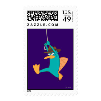 Agent P Swinging from Rope Postage Stamp