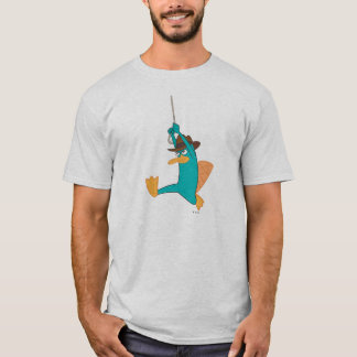 Agent P Swinging from Rope T-Shirt