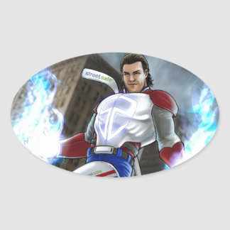 Agent Prust Collection Oval Sticker
