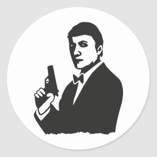 Agent Classic Round Sticker
