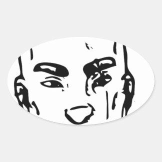 Agent Street Smirk Oval Sticker