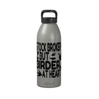 Agente de bolsa del amante del pájaro botellas de beber