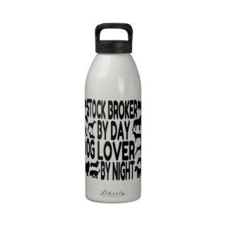 Agente de bolsa del amante del perro botella de beber
