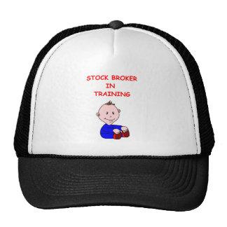 agente de bolsa gorras de camionero