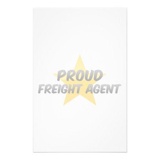 Agente de carga orgulloso papeleria