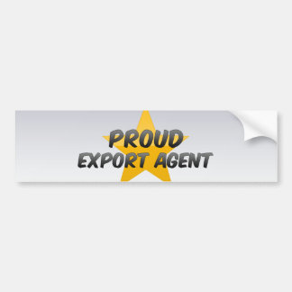 Agente de exportación orgulloso pegatina de parachoque