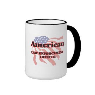 Agente de la autoridad americano taza a dos colores